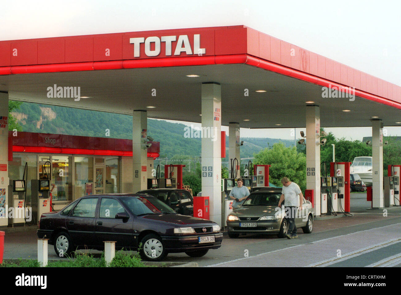 Wasserbillig Luxemburg total petrol station in wasserbillig luxembourg stock photo