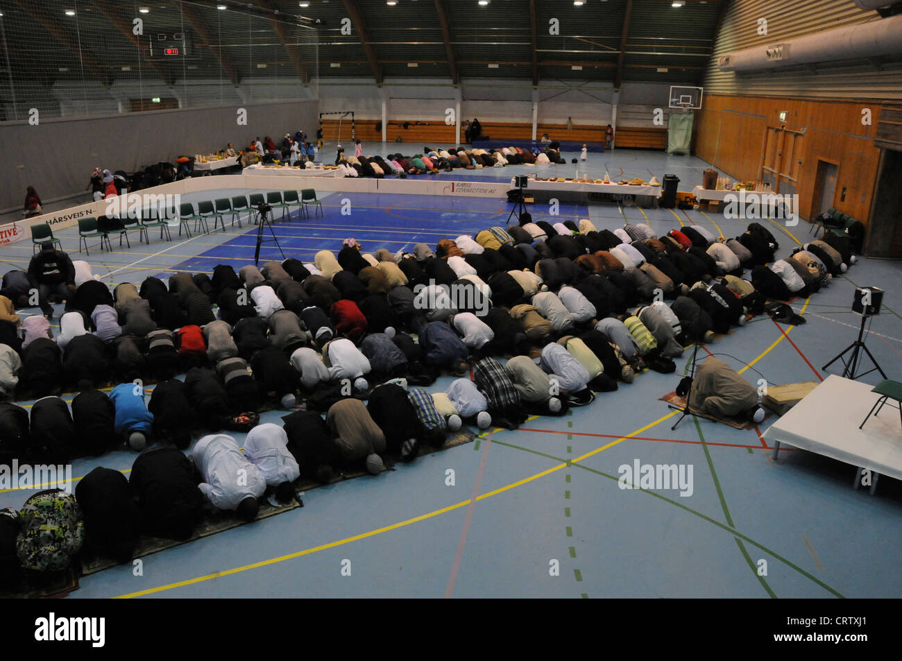 Feast of the Id al-Fitr, the end of Ramadan and the breaking of the fast in Tromso, Norway. Year 2011. - Stock Image