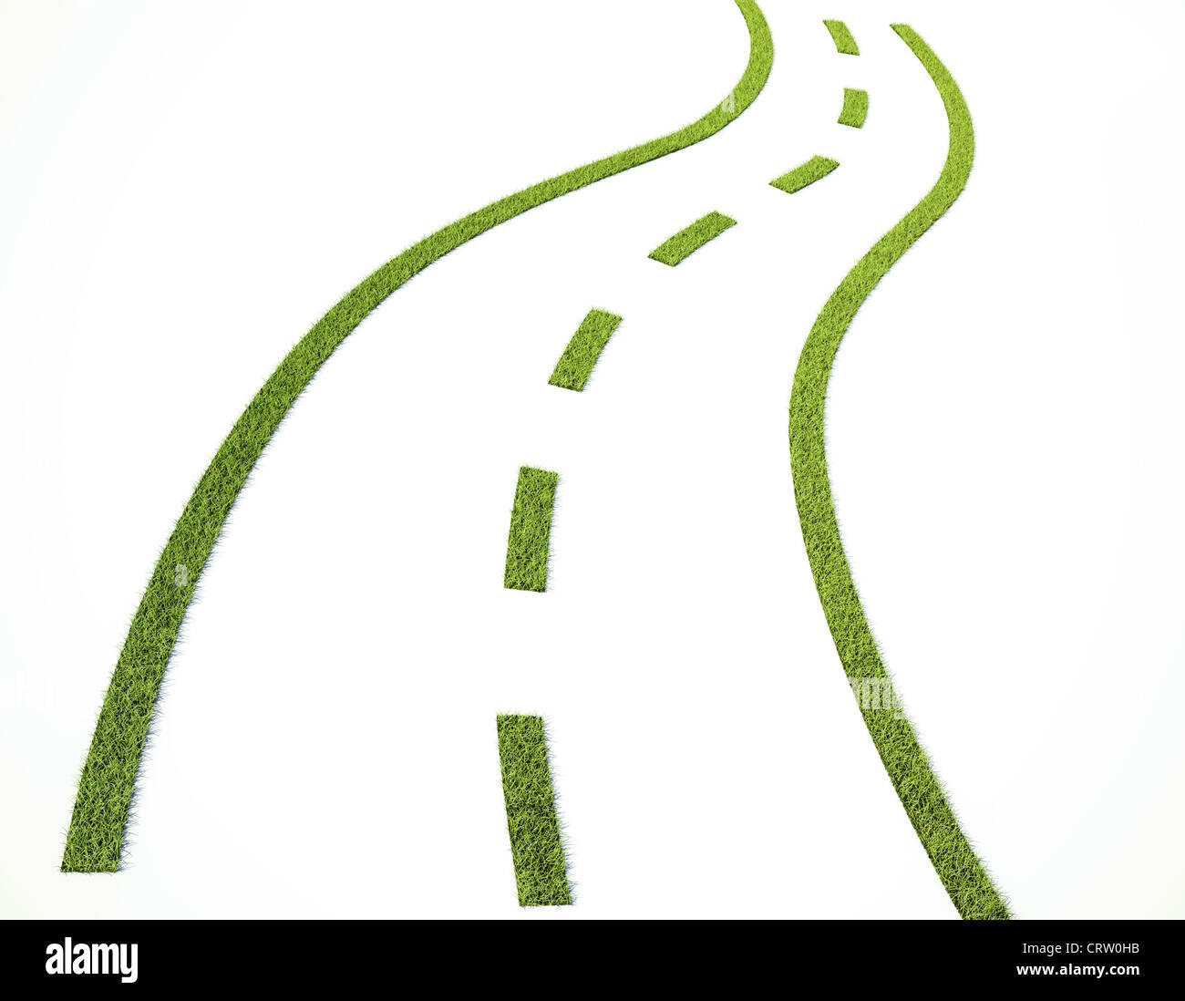 Grass road - sustainable transport - Stock Image
