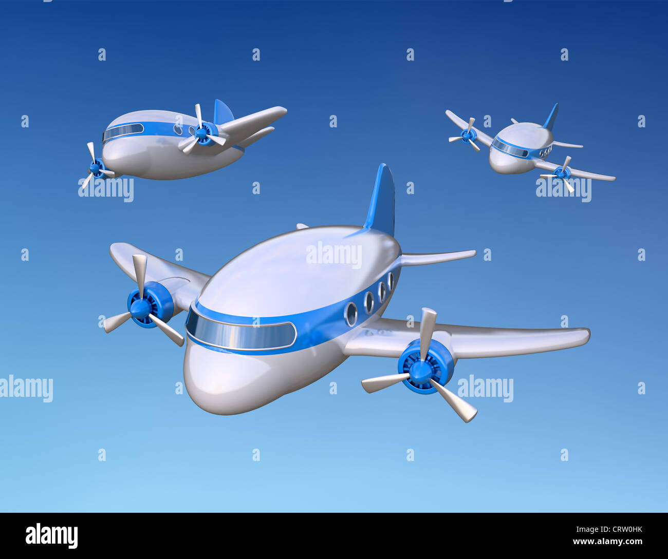 little 3D airplanes - Stock Image
