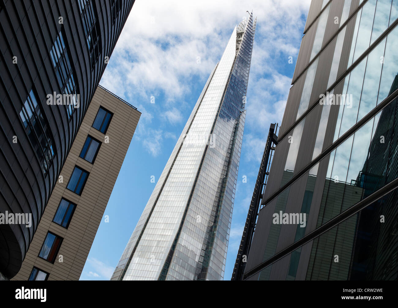 The shard / Shard London Bridge seen from More London Place. Southwark, London, England - Stock Image