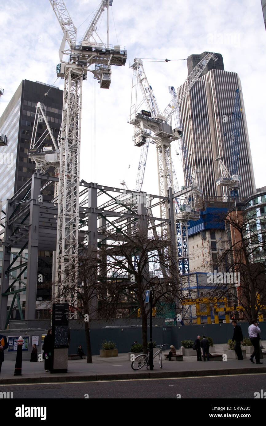 The Pinnacle construction site - Stock Image