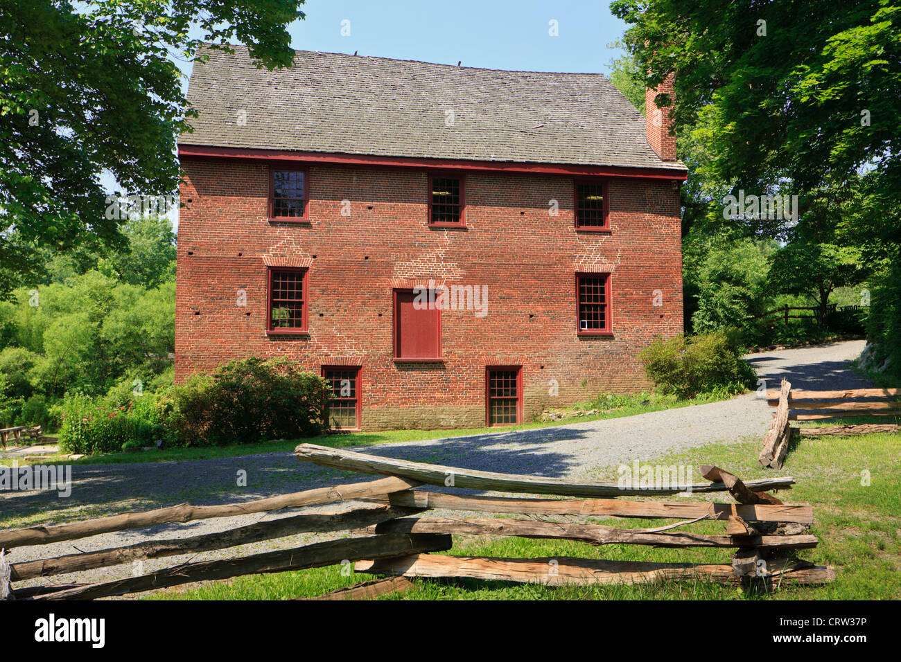Colvin Run Mill Historic Site, a water-powered gristmill, built about 1805, Great Falls, Virginia, Fairfax County - Stock Image
