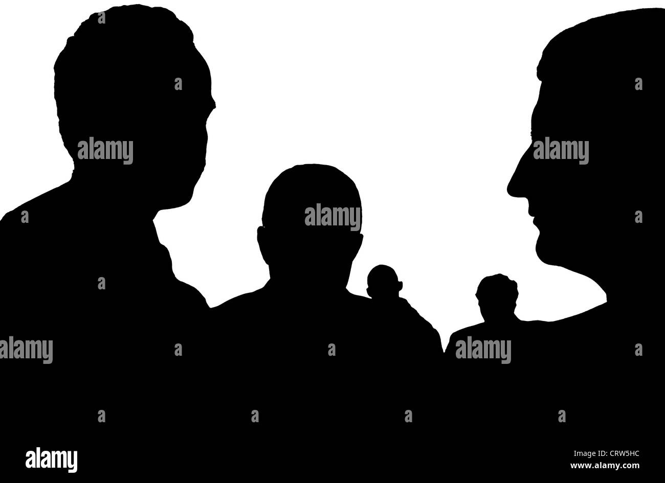 incognito persons - Stock Image