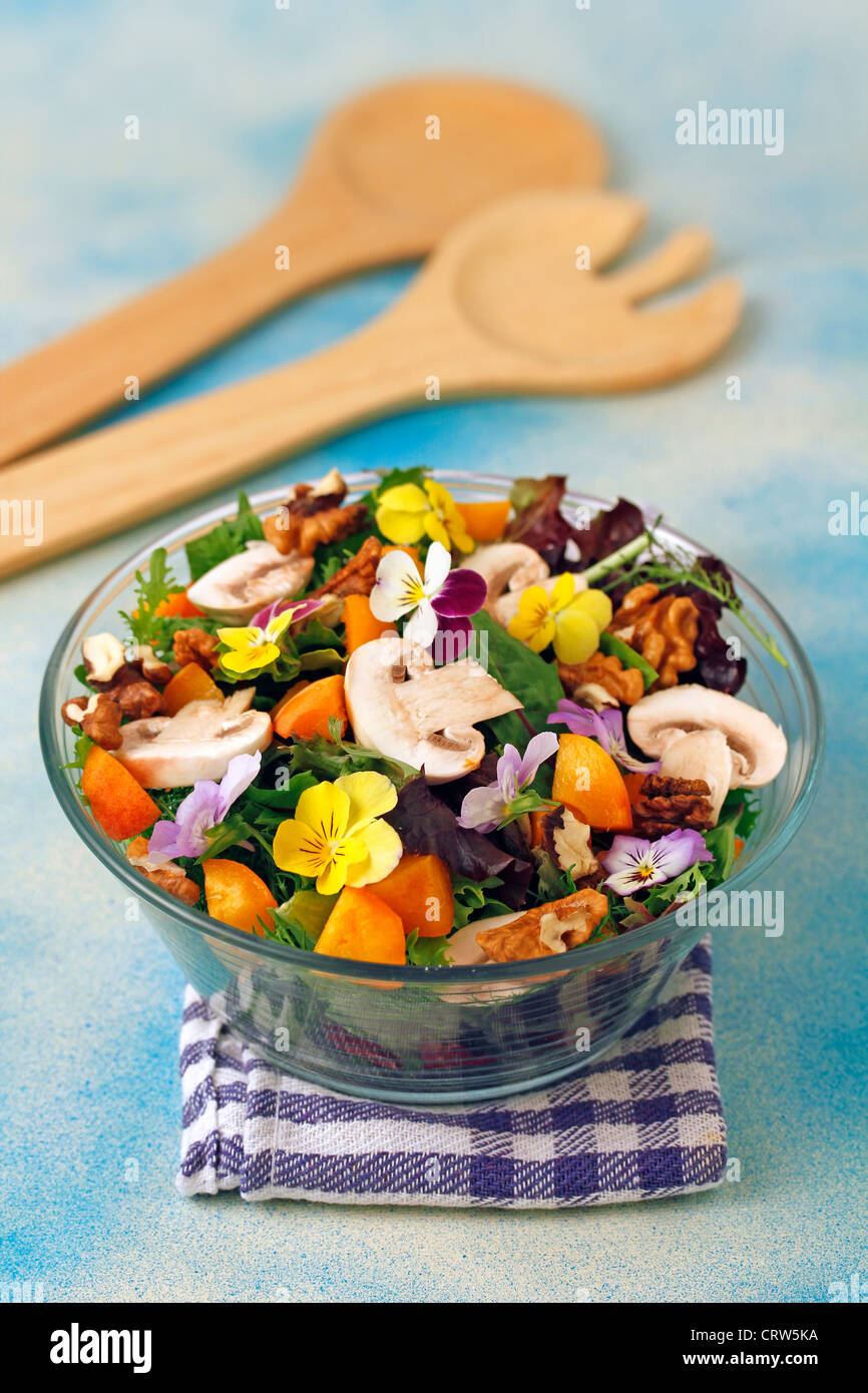 Multi flavour salad Recipe available. - Stock Image