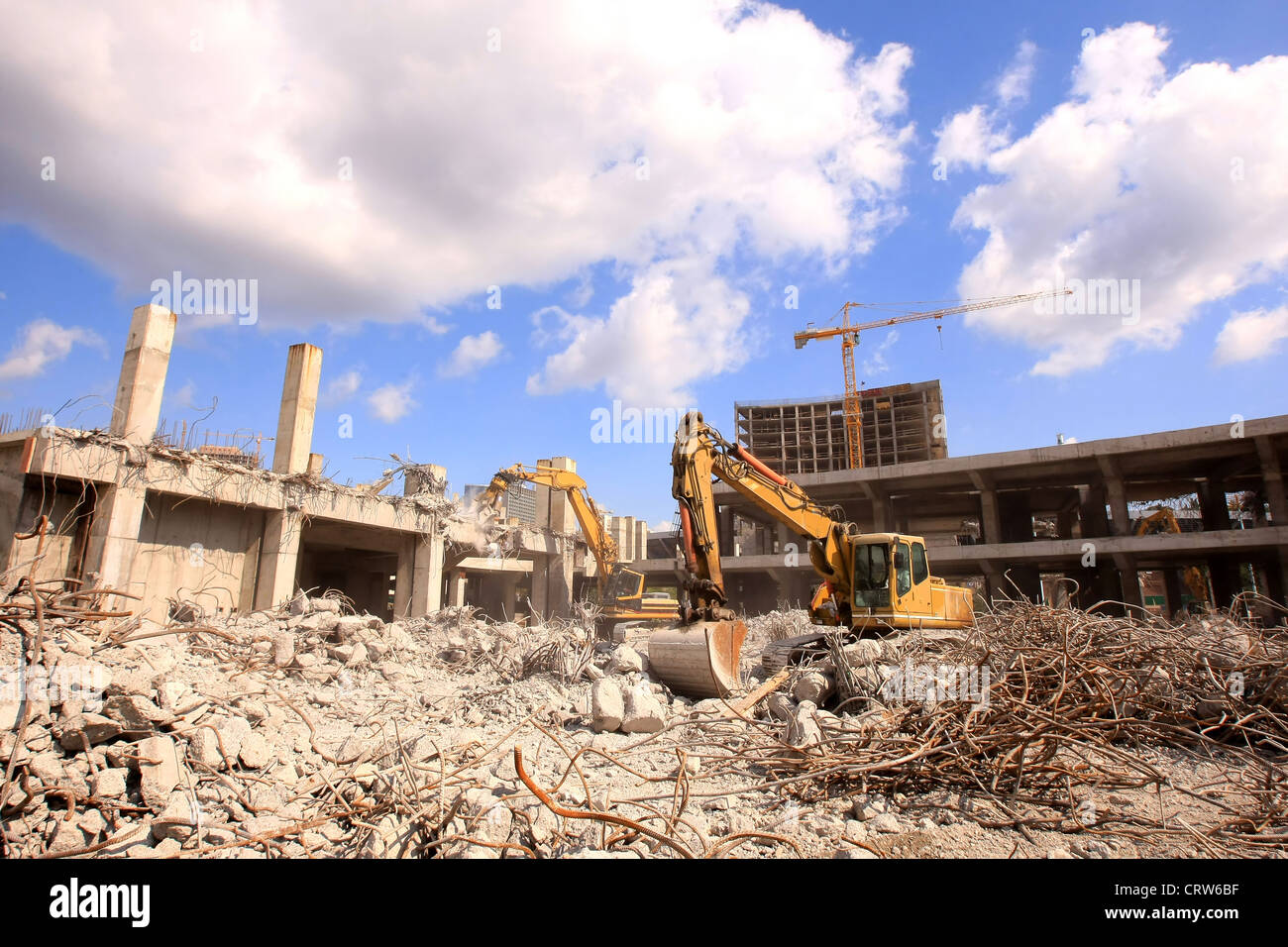 Urban renewal in the city centre - Stock Image