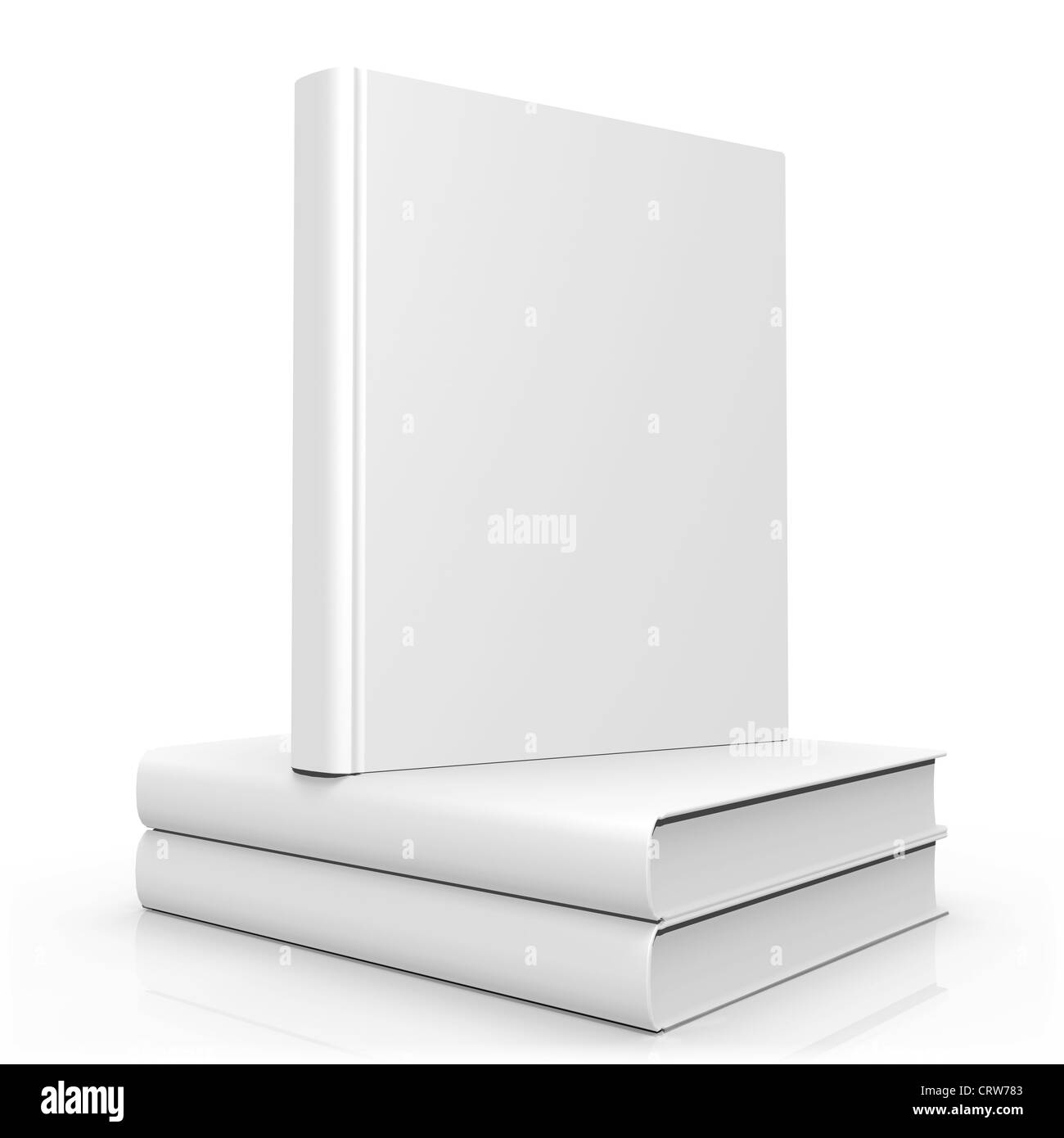 Blank Empty 3d Book Cover - Stock Image