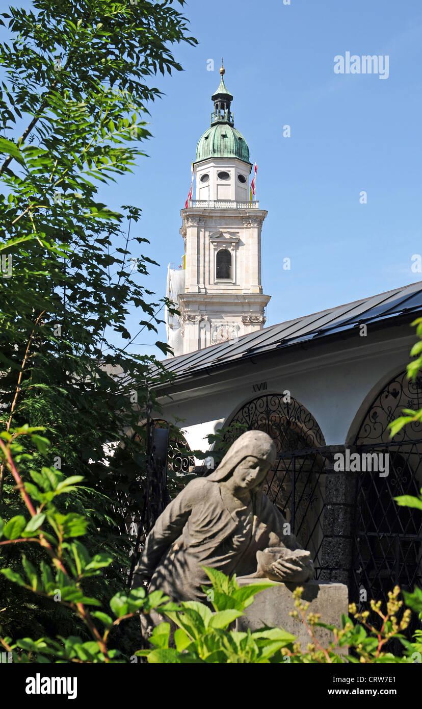 Salzburg's St. Peter's Cemetery - Stock Image