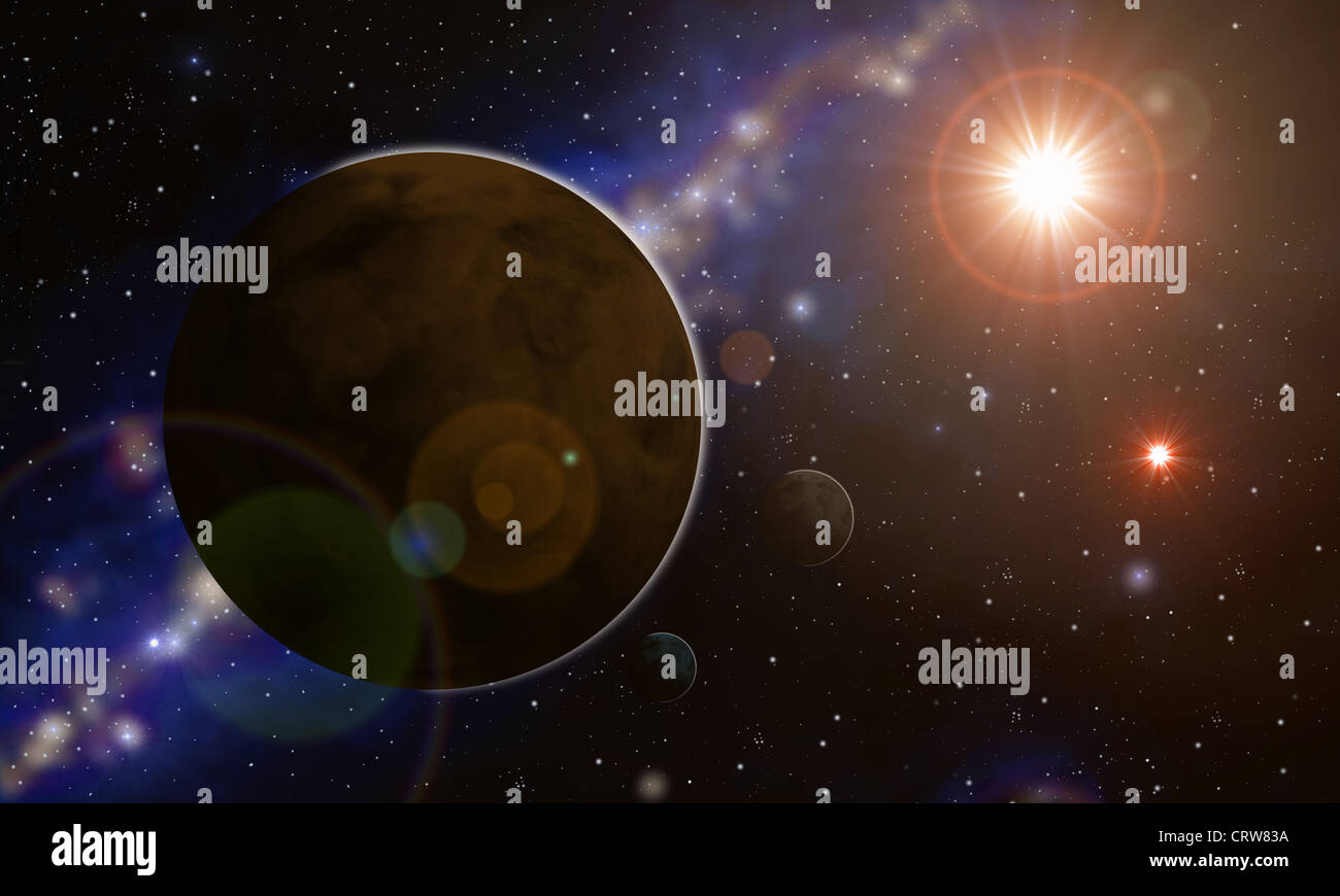 Binary system Stock Photo