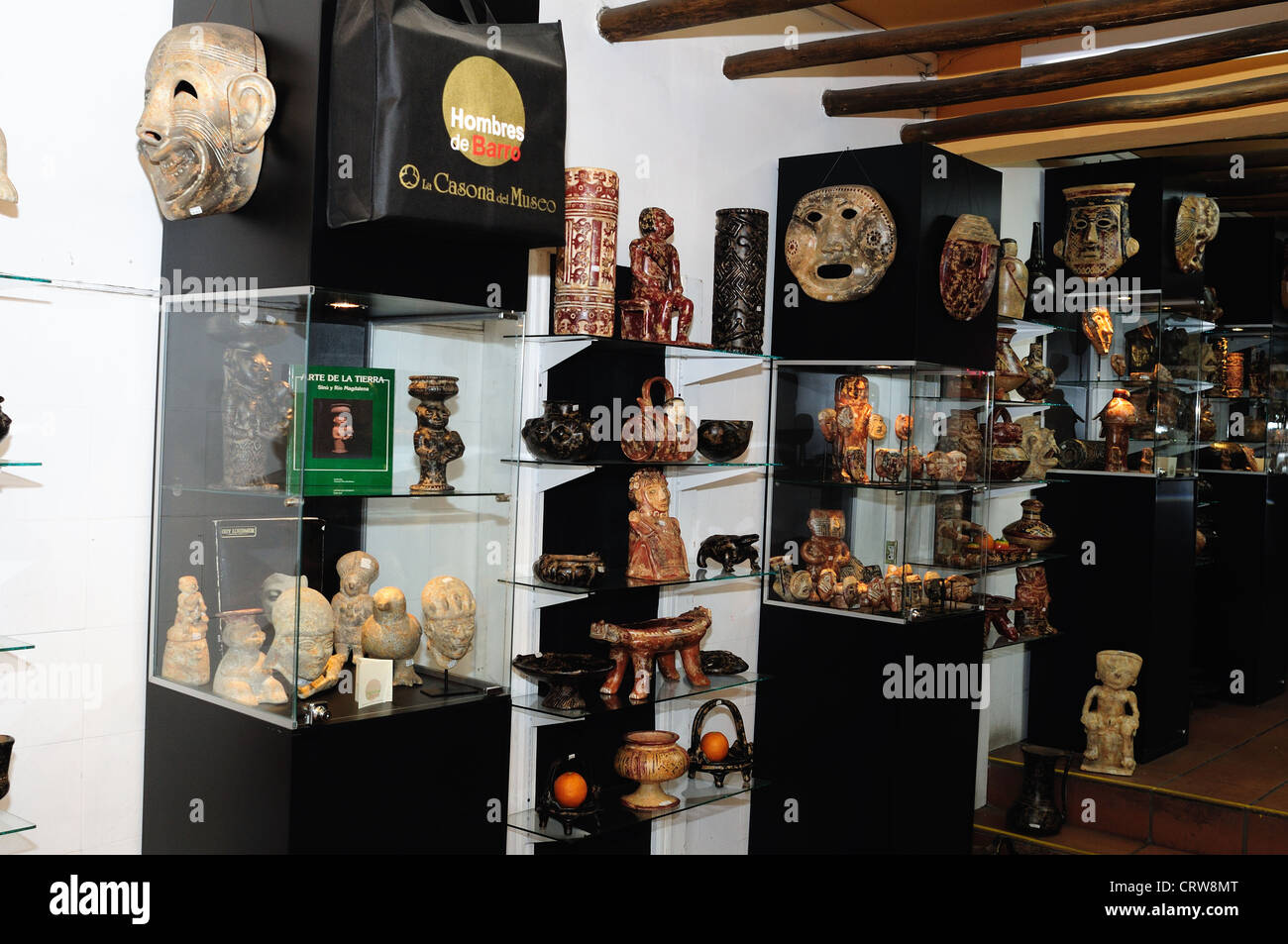 """ Hombres de Barro - La Casona del Museo "" in BOGOTA .Department of Cundimarca. COLOMBIA Stock Photo"