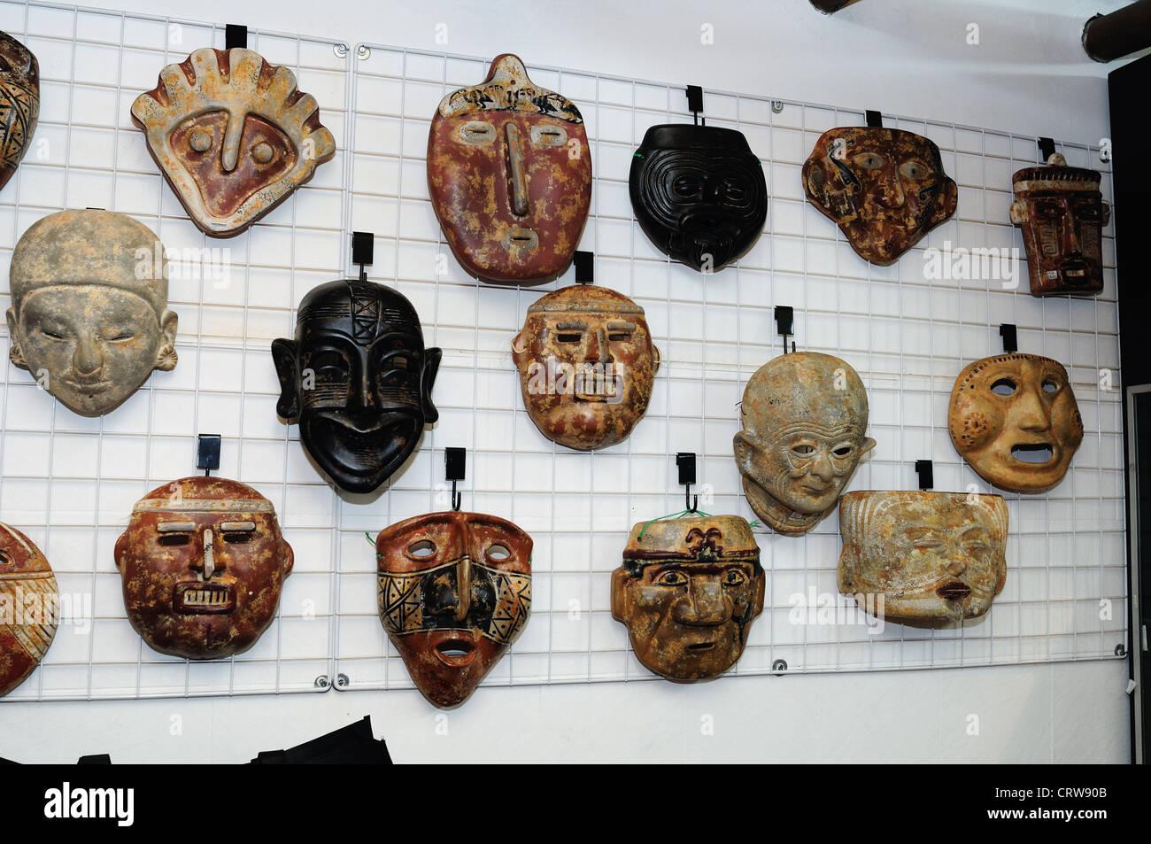 """"""" Hombres de Barro - La Casona del Museo """" in BOGOTA .Department of Cundimarca. COLOMBIA Stock Photo"""