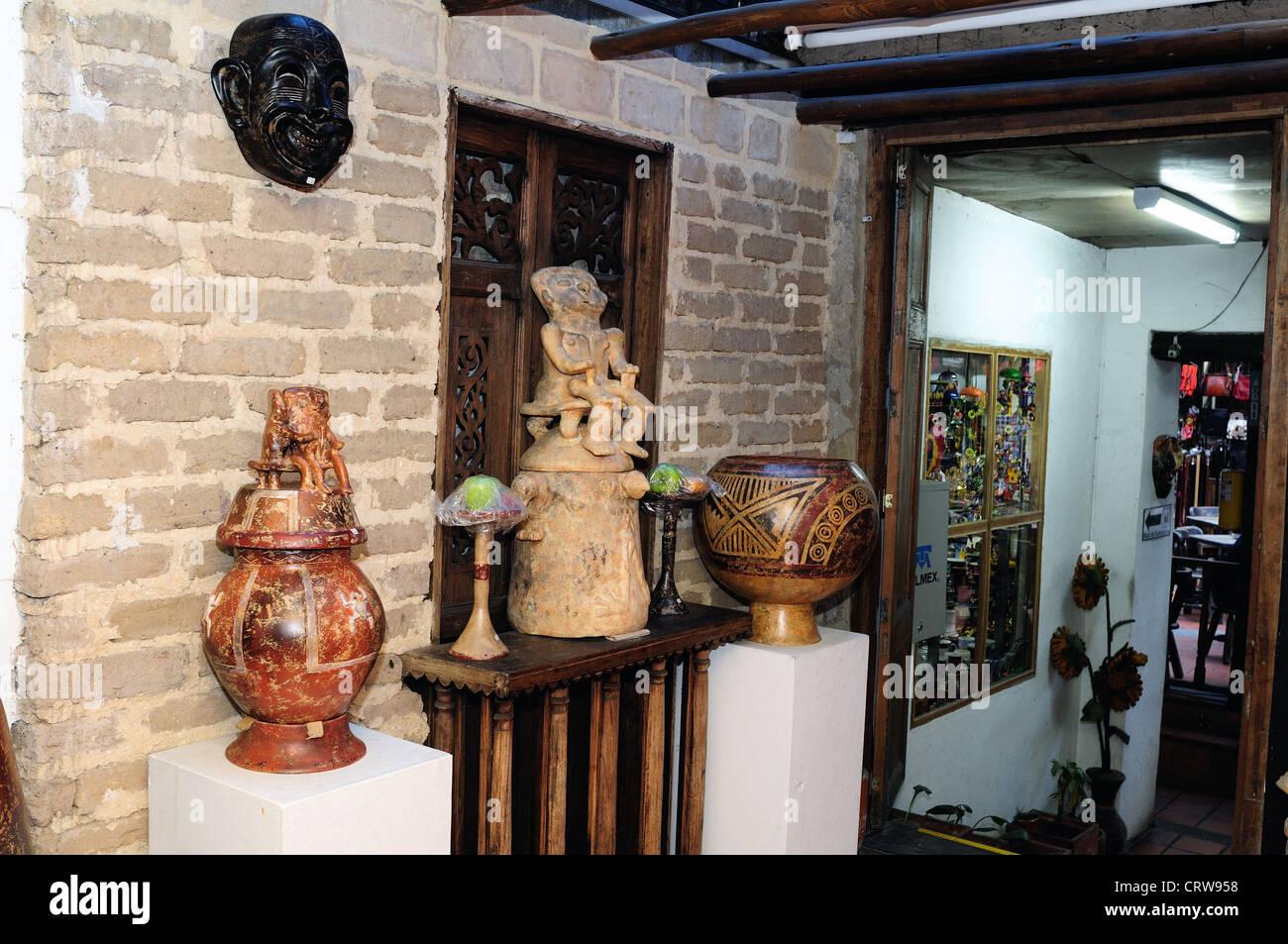 ' Hombres de Barro - La Casona del Museo ' in BOGOTA .Department of Cundimarca. COLOMBIA - Stock Image