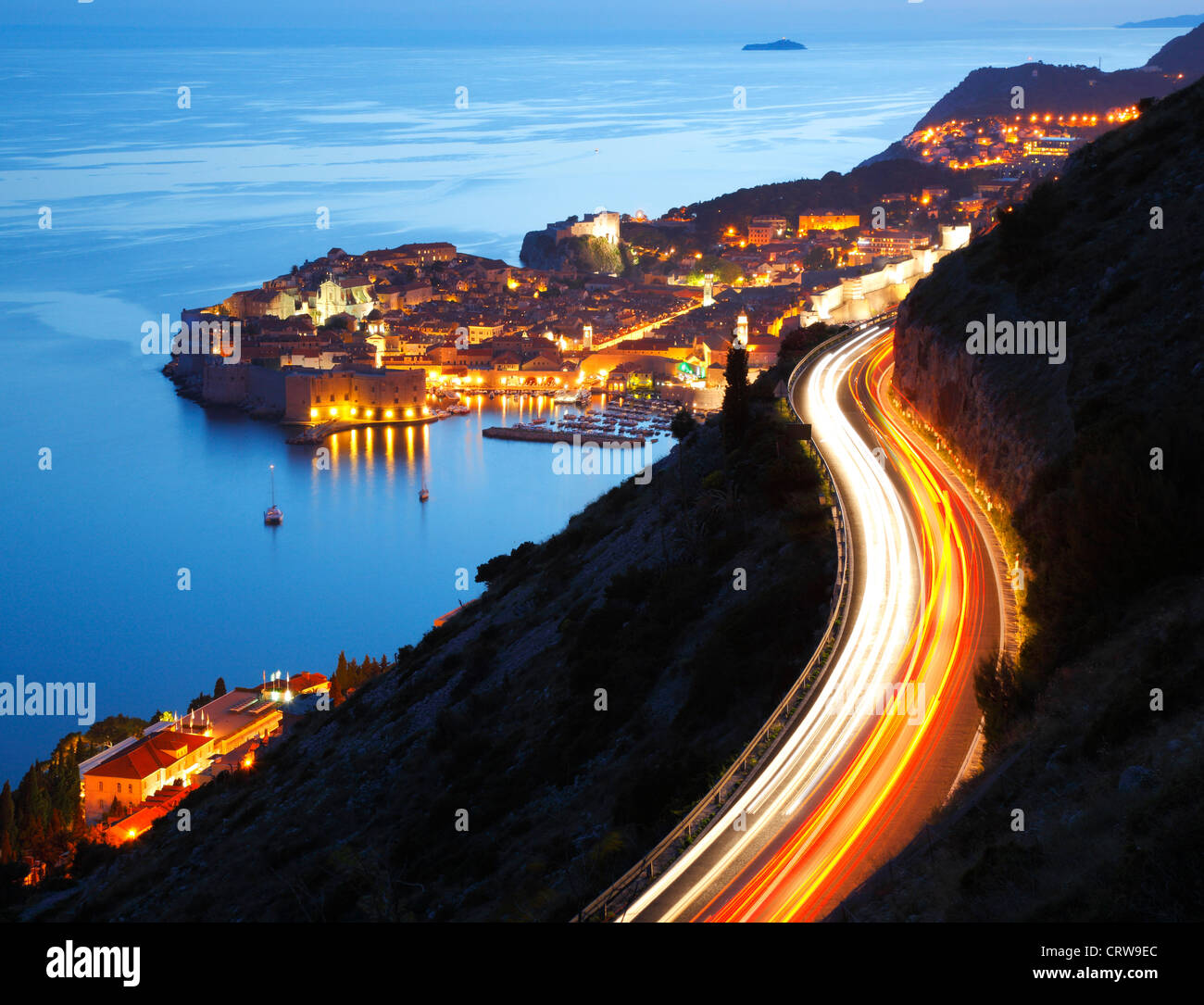 Road to Dubrovnik old city - Stock Image