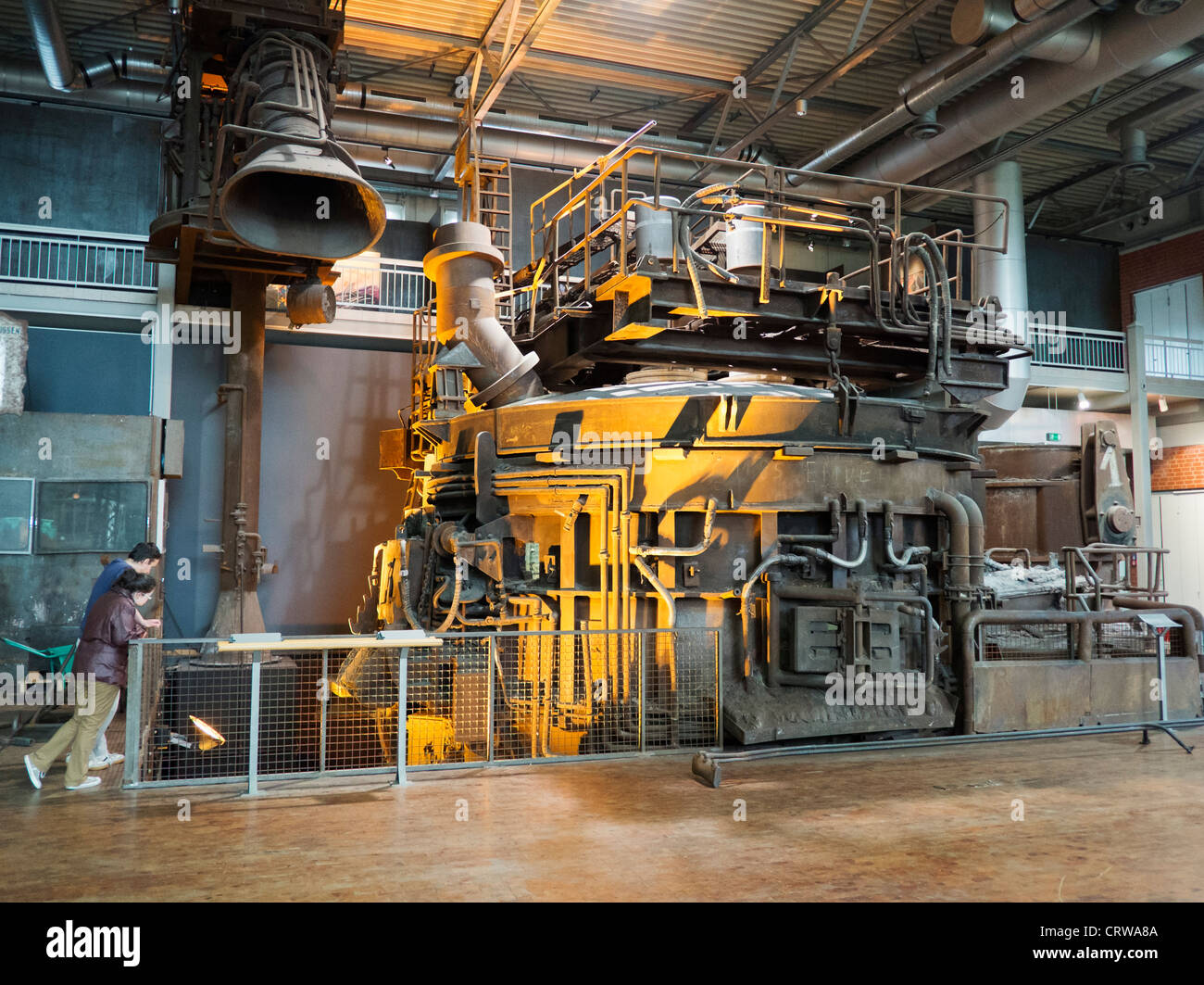 Blast furnace exhibit at Deutsche Arbeitsschutzausstellung DASA or German Museum of Occupational Health and Safety - Stock Image