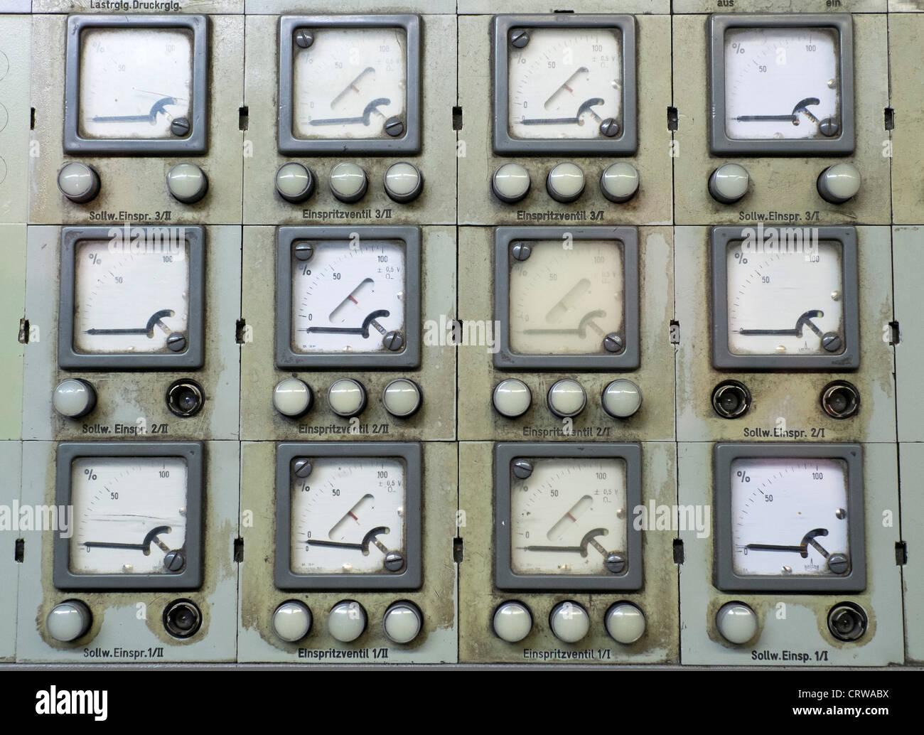 Power station exhibit at Deutsche Arbeitsschutzausstellung DASA or German Museum of Occupational Health and Safety - Stock Image