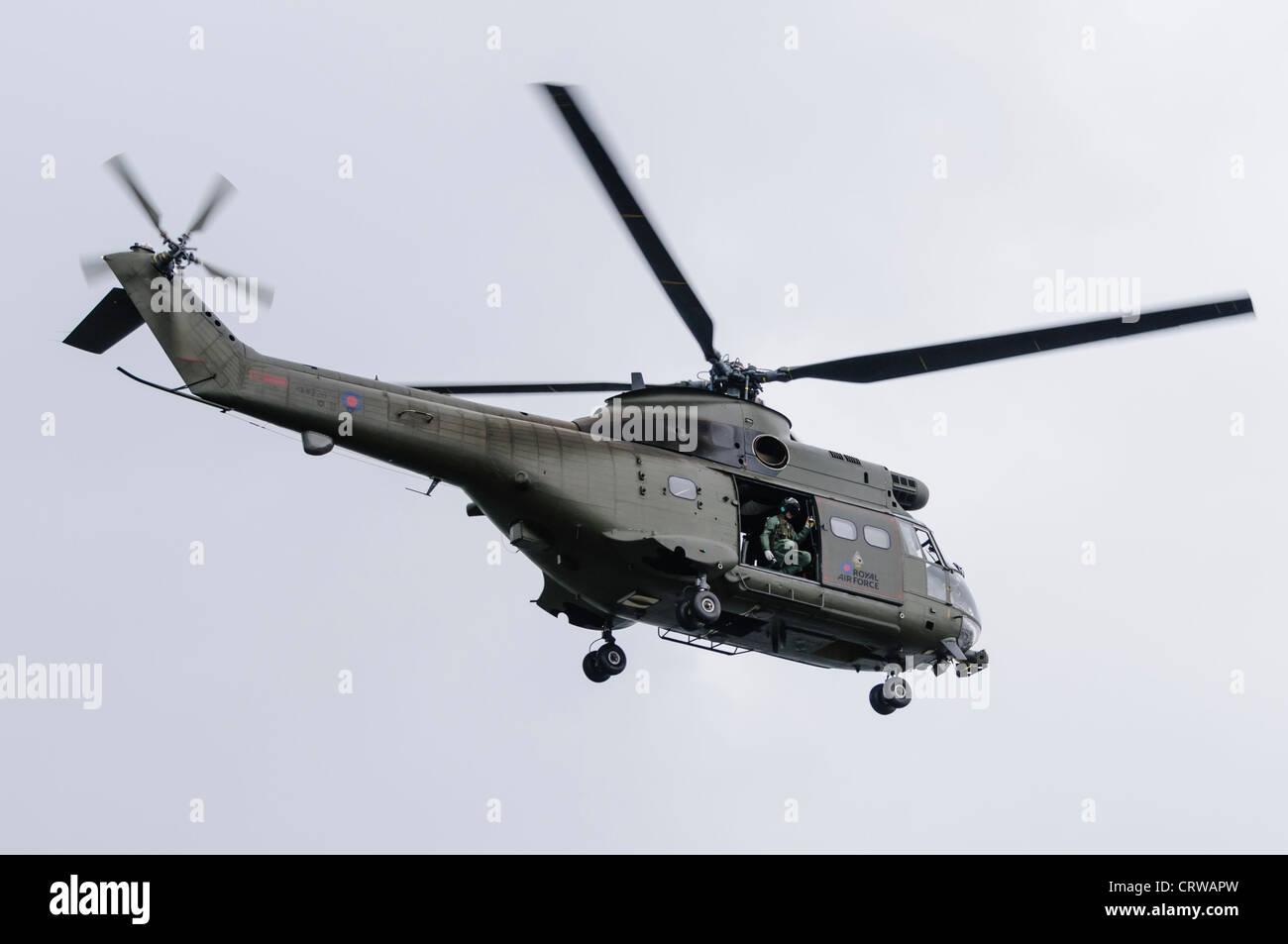 Royal Air Force Puma in flight - Stock Image