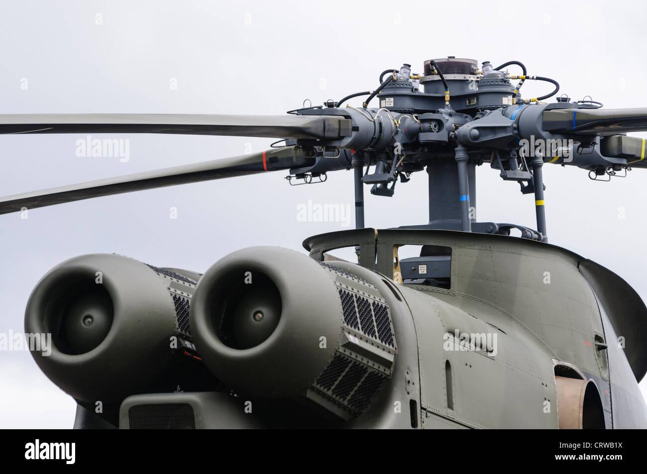 Royal Air Force Puma rotor and inlet detail - Stock Image