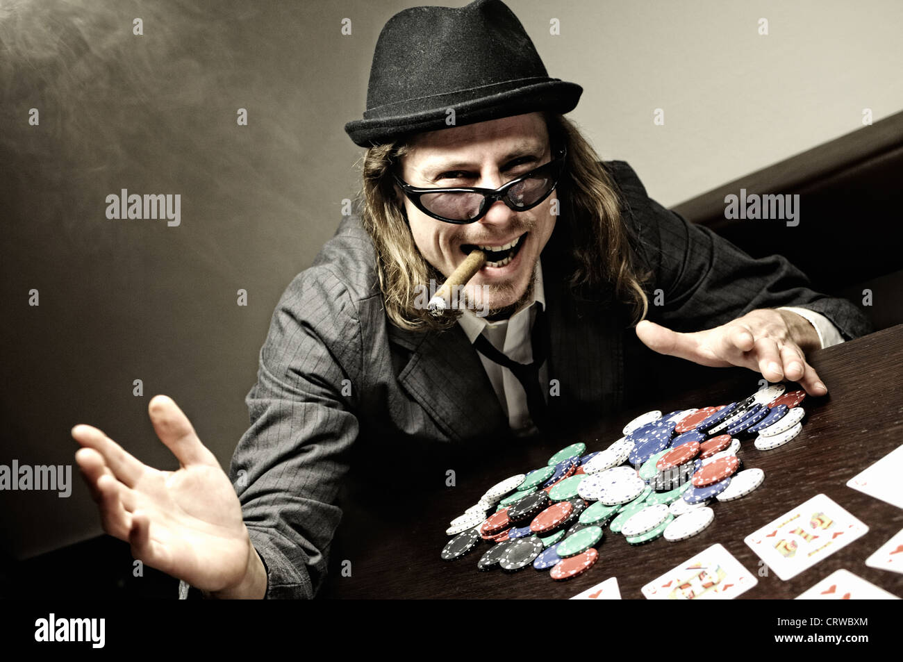 Poker Gambler - Stock Image