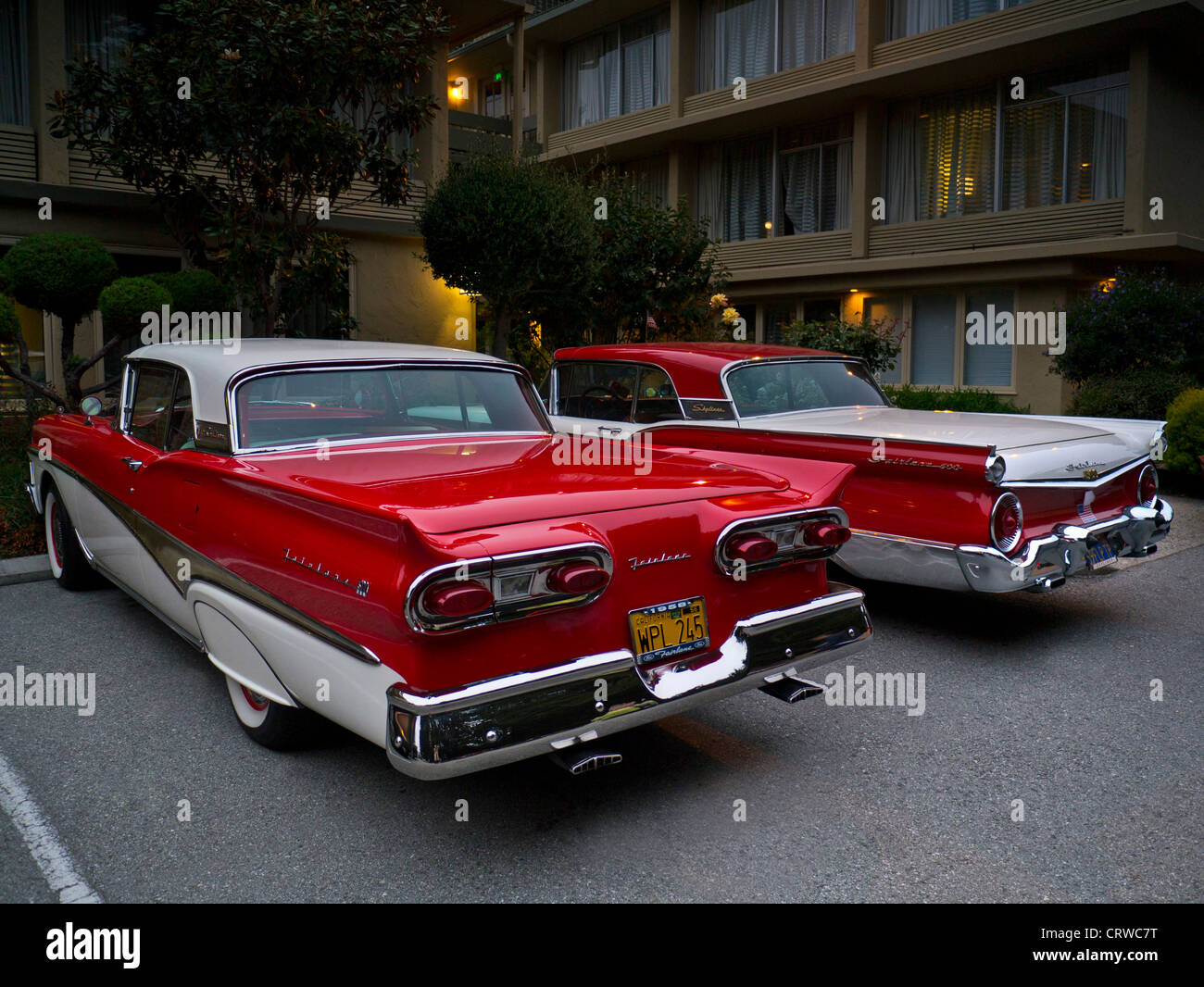Two 1950 39 s two tone ford fairlane skyliner american for American classic motor cars