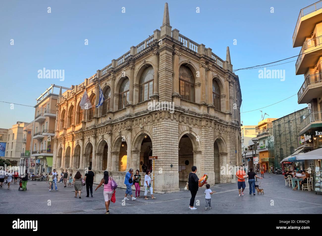 Venetian Loggia, Heraklion, Crete, Greece - Stock Image