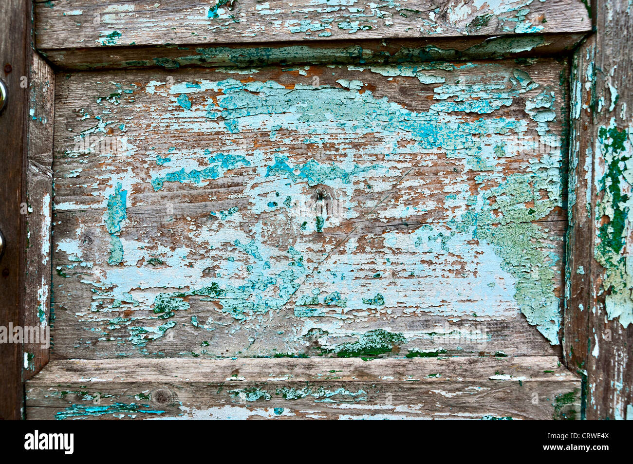 Old Door Fragment May Be Used As A Frame Or Background Stock Photo