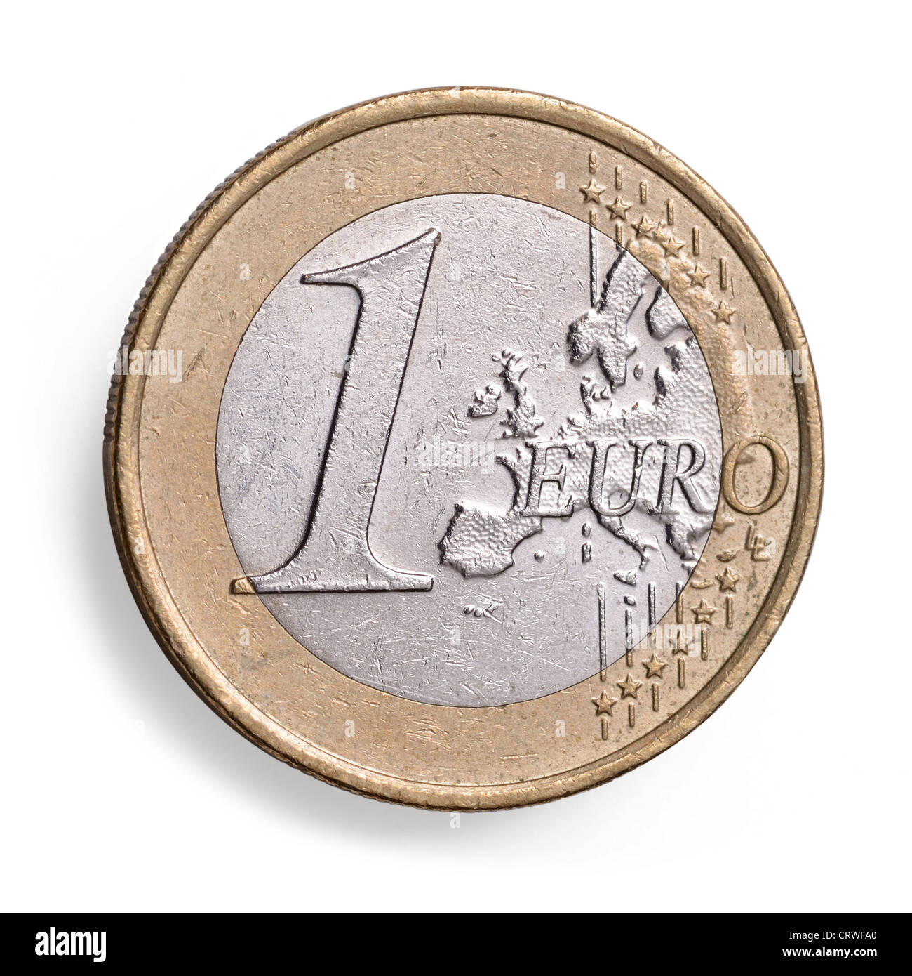 1 One Euro coin - Stock Image