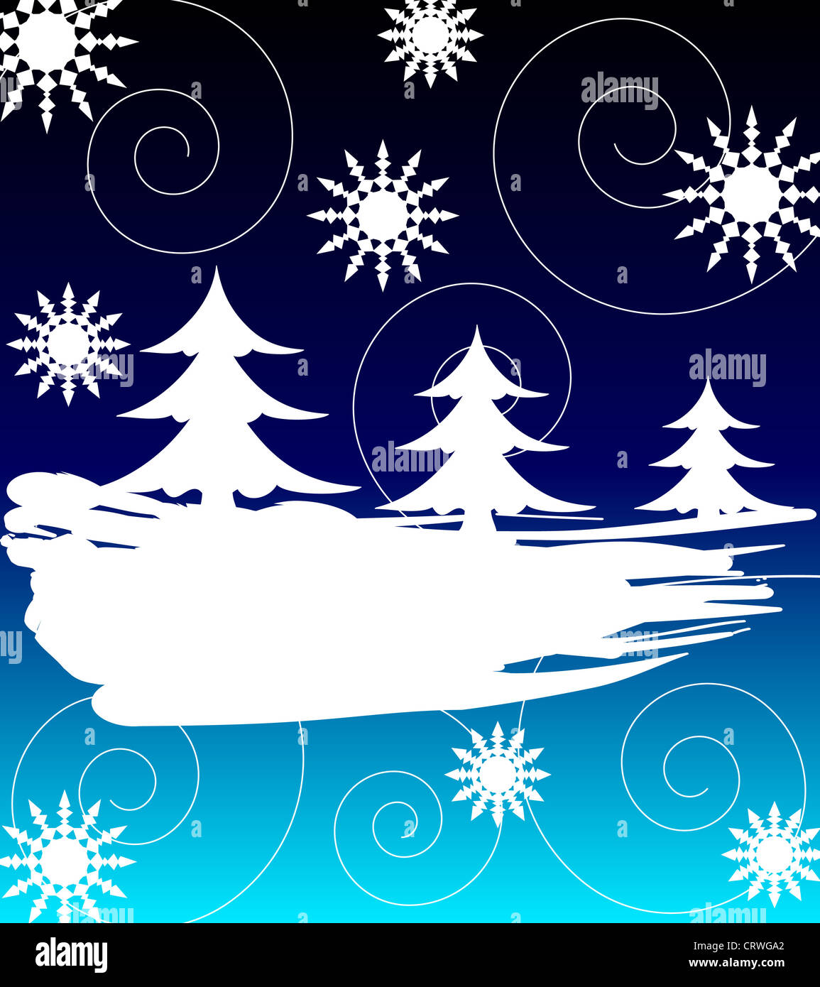 Christmas trees and stars design Stock Photo