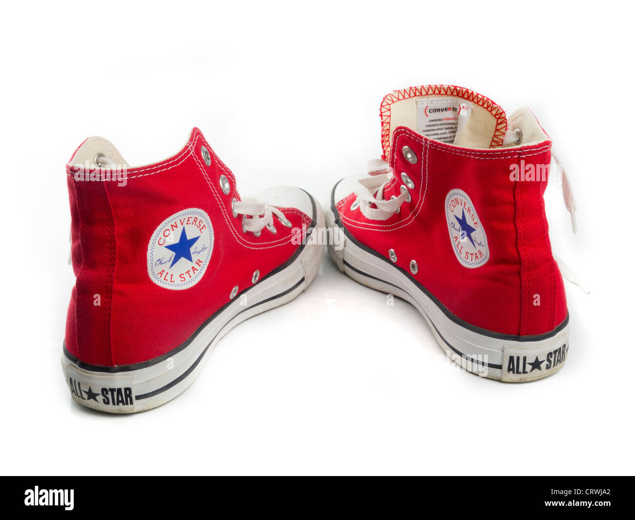 8fd539798576 Red Converse Chuck Taylor All Star shoe pair Stock Photo  49121018 ...