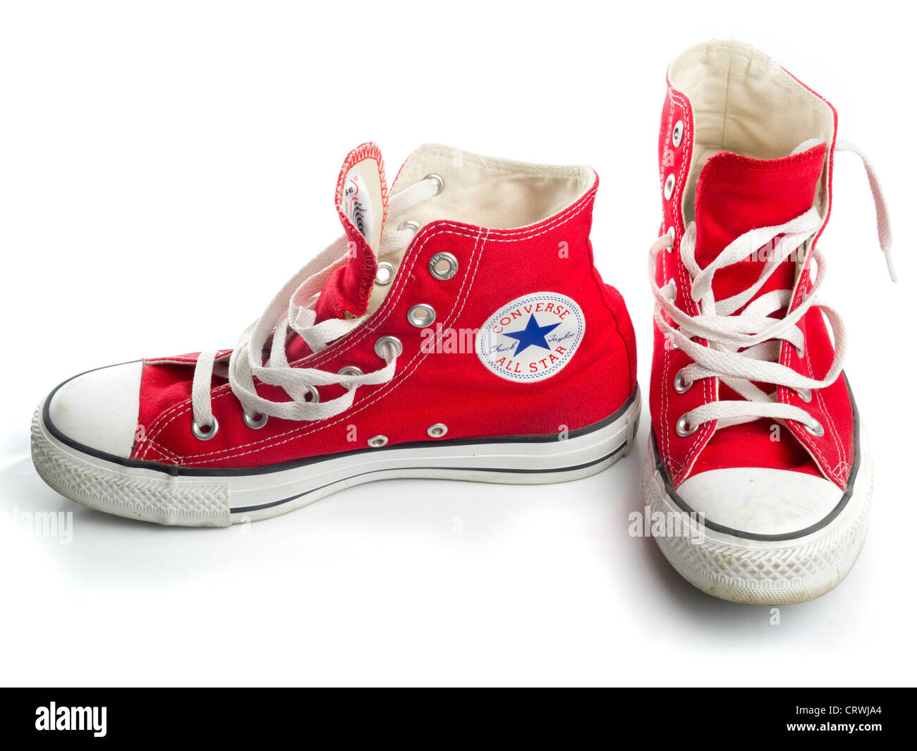 740a13b2cdbf Red Converse Chuck Taylor All Star shoe pair Stock Photo  49121020 ...