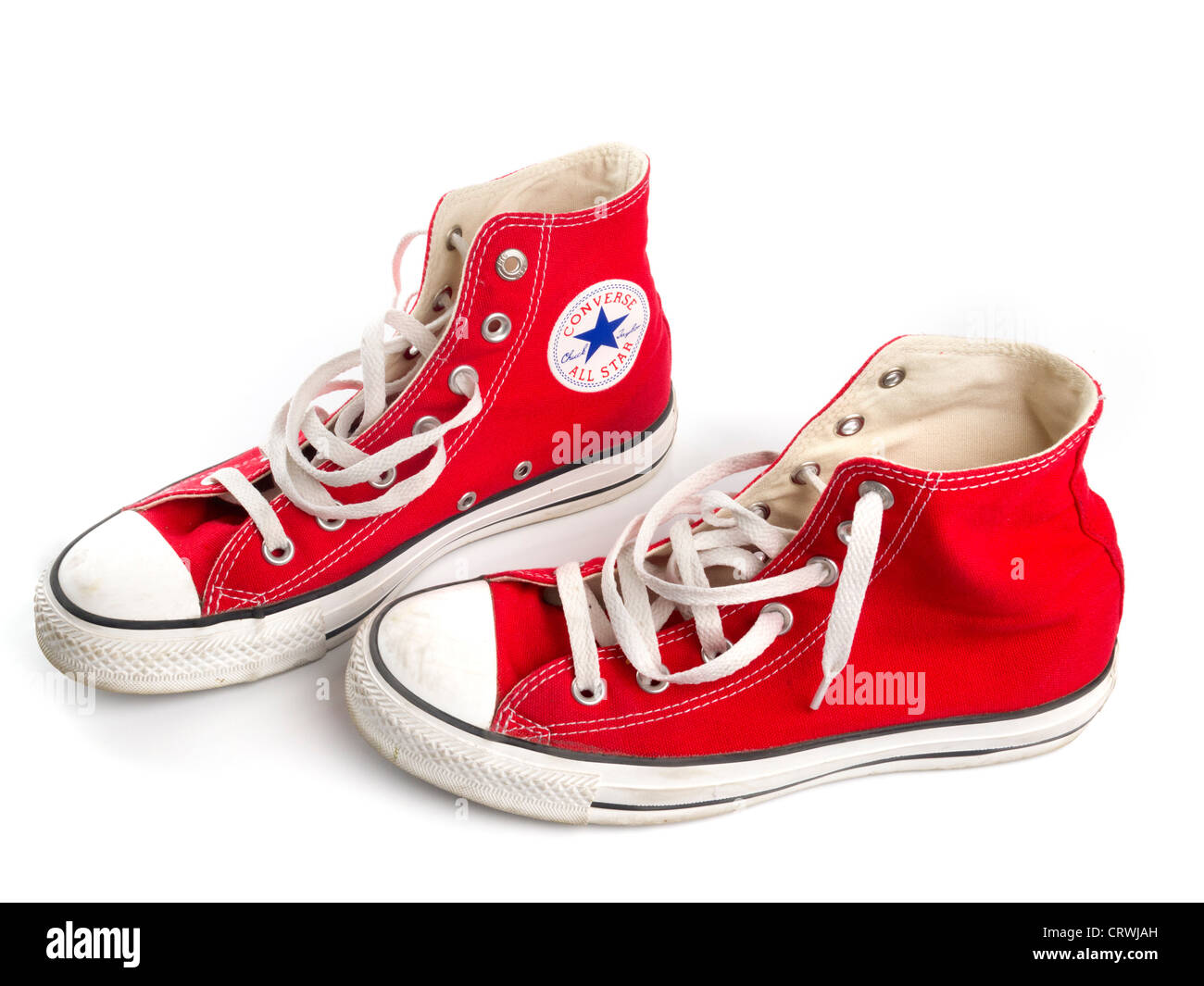e7c4280f70db Red Converse Chuck Taylor All Star shoe pair Stock Photo  49121033 ...