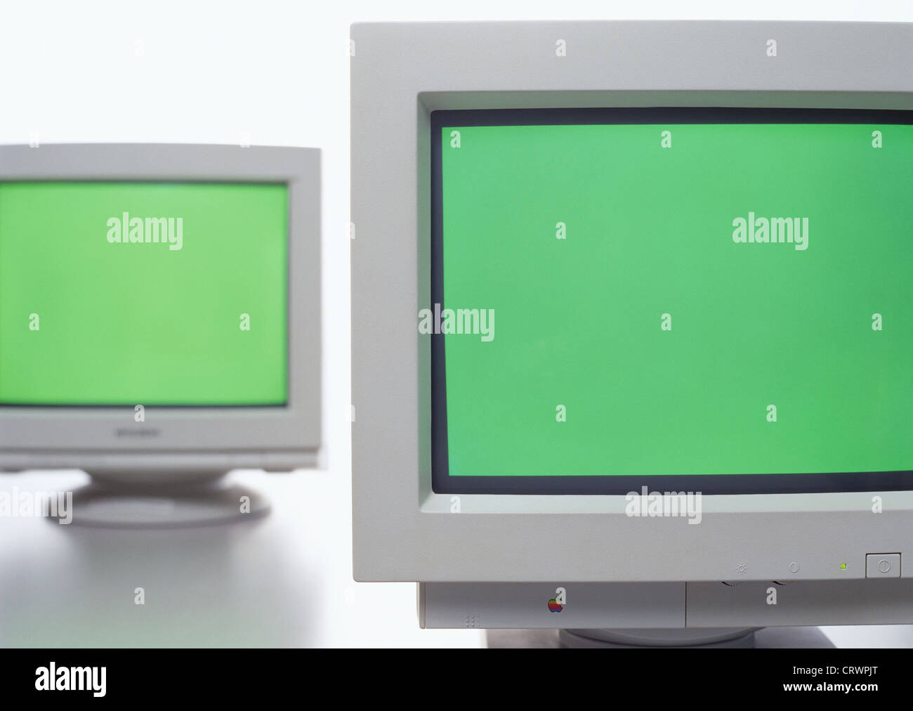 Old Crt Monitor Screen Display Stock Photo   Alamy