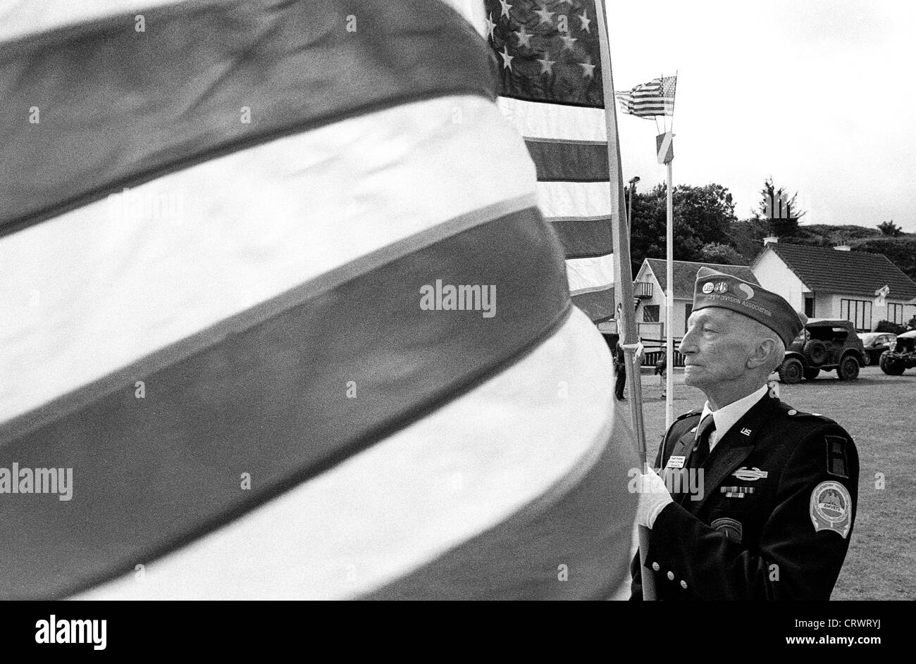 Veterans on the 50th Anniversary of the Normandy landings - Stock Image