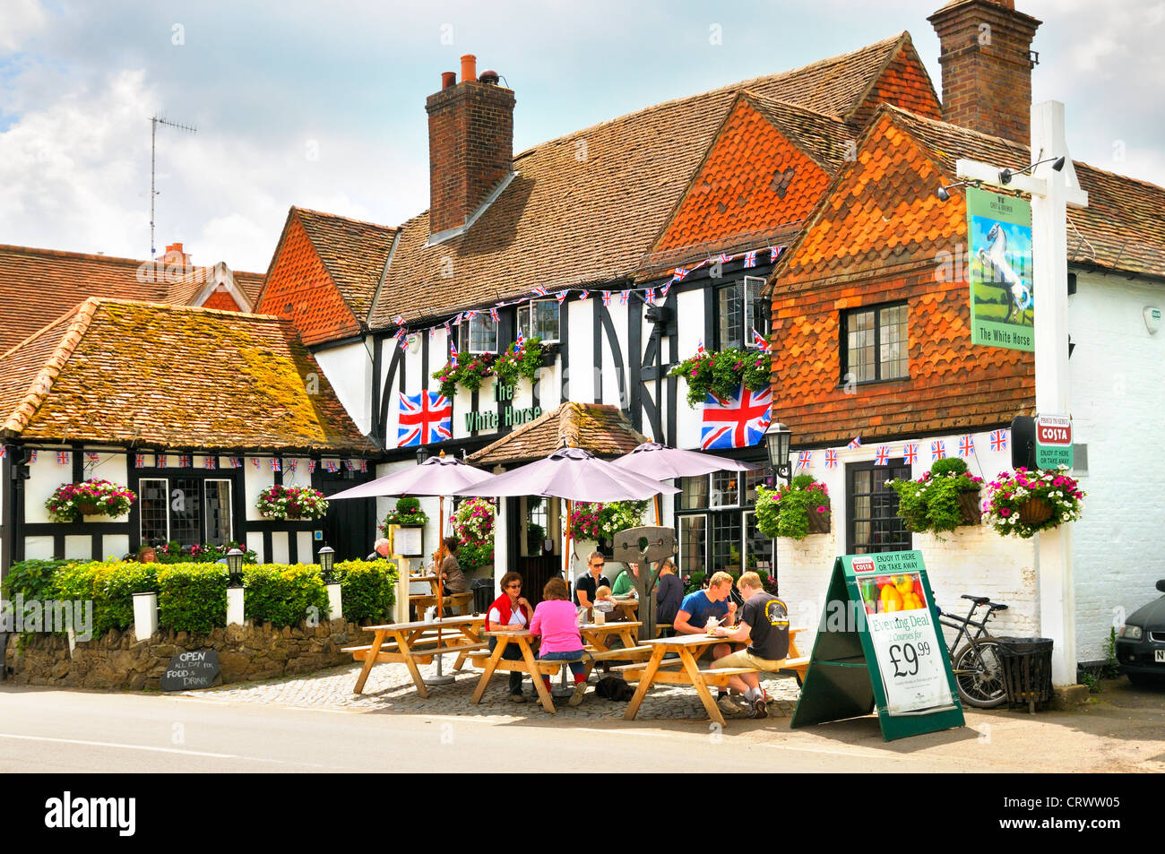 The White Horse Inn, Shere, Surrey, UK - Stock Image