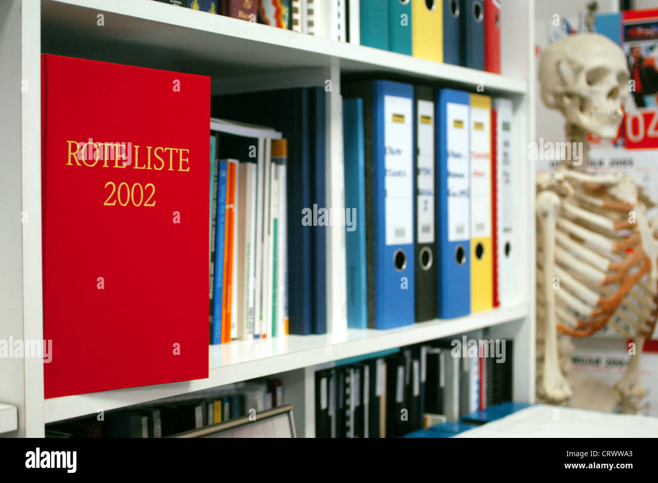 Medicines Directory Red List - Stock Image