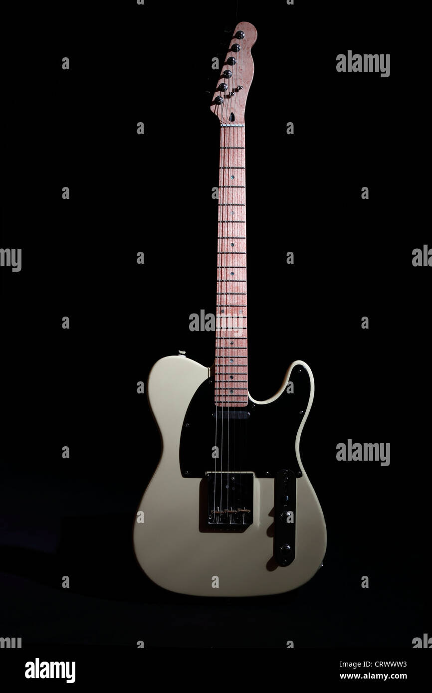 Fender Telecaster Vintage White Electric Guitar - Stock Image