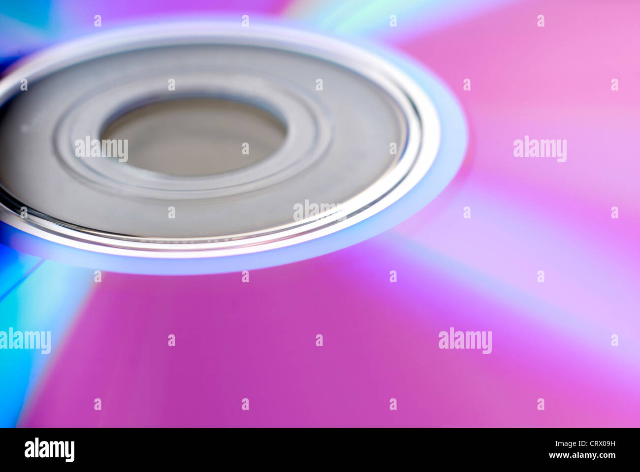 Recordable DVD disc close-up Stock Photo