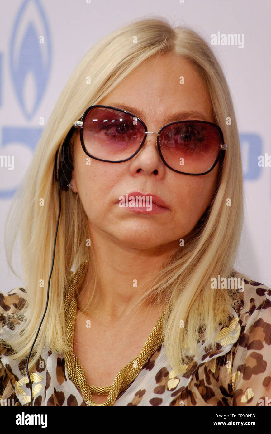 Russia. St. Petersburg International Film Forum. The actress Ornella Muti. Stock Photo
