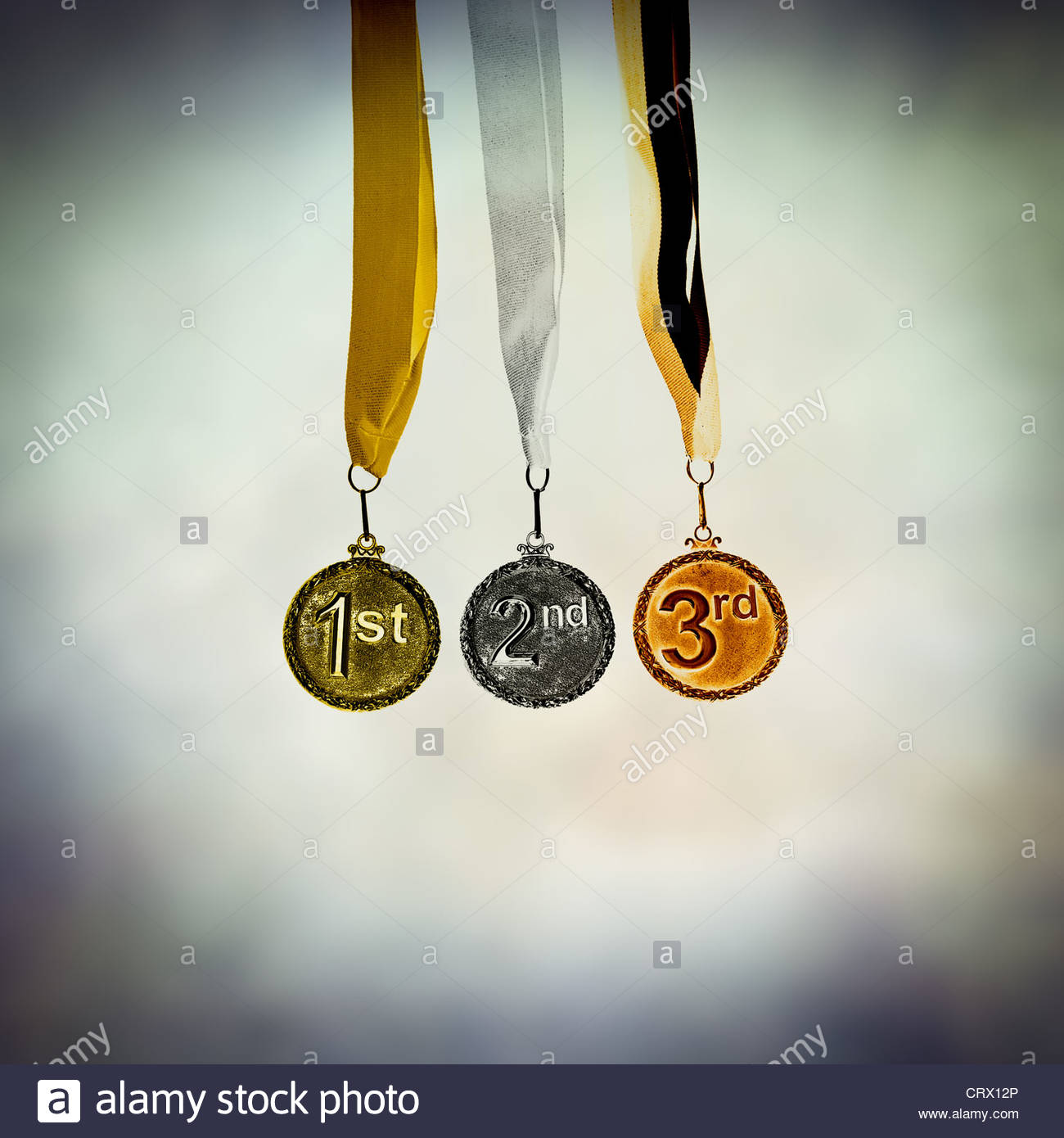 Gold medal - Stock Image