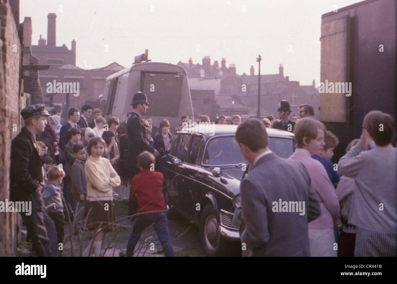 003574 - The Beatles arriving for filming at Knole Park in Sevenoaks on 7th February 1967 - Stock Image