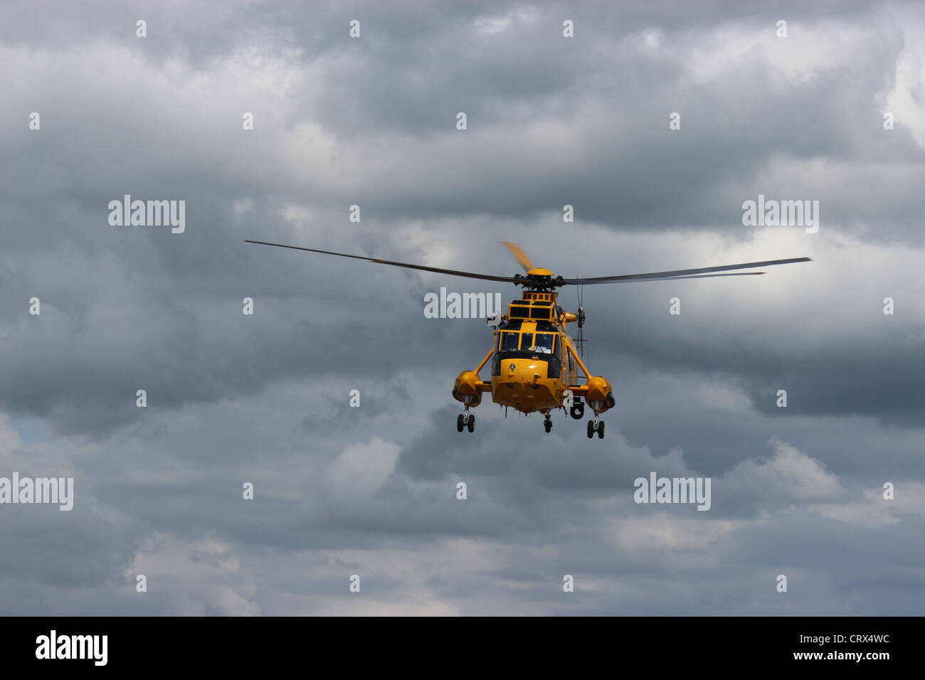Search and rescue seaking low fly by - Stock Image