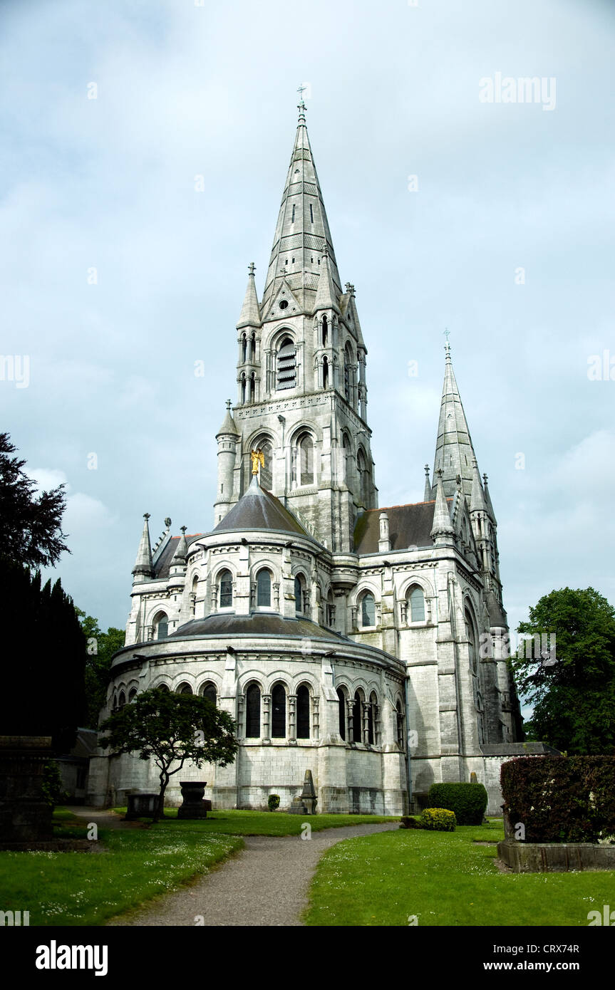 St.Fin Barre's cathedral in Cork, Ireland; an Anglican cathedral consecrated 1870,it dates to the 7th century - Stock Image