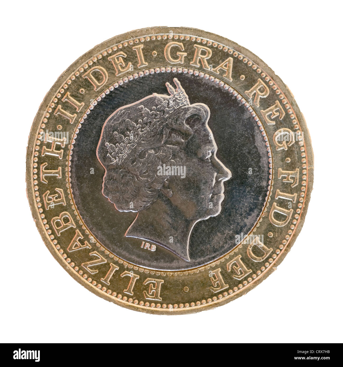 British two pound coin - Stock Image