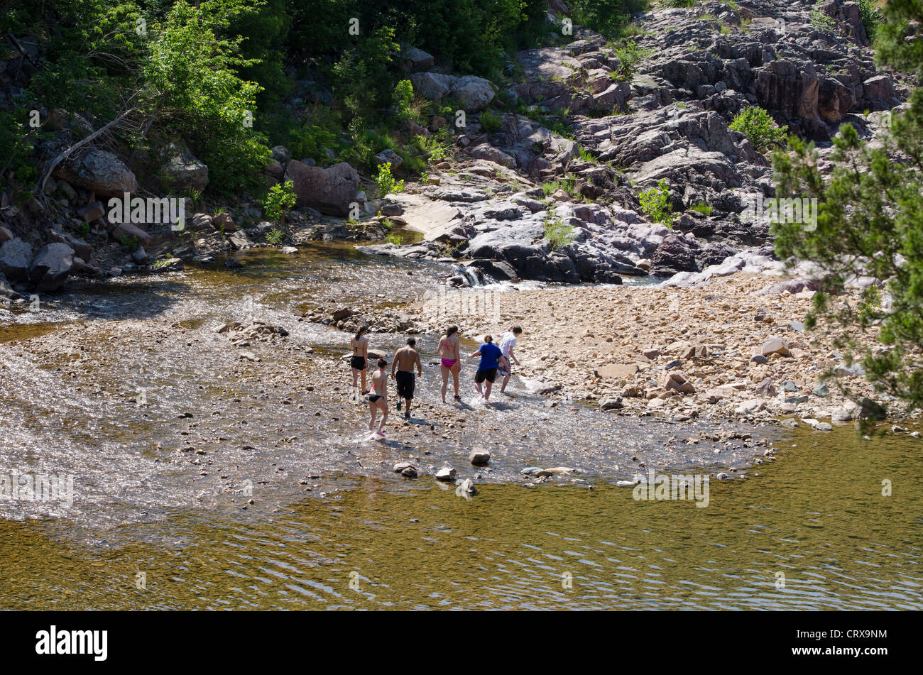 Johnson's Shut-ins State Park is one of the the most popular Missouri state parks. - Stock Image