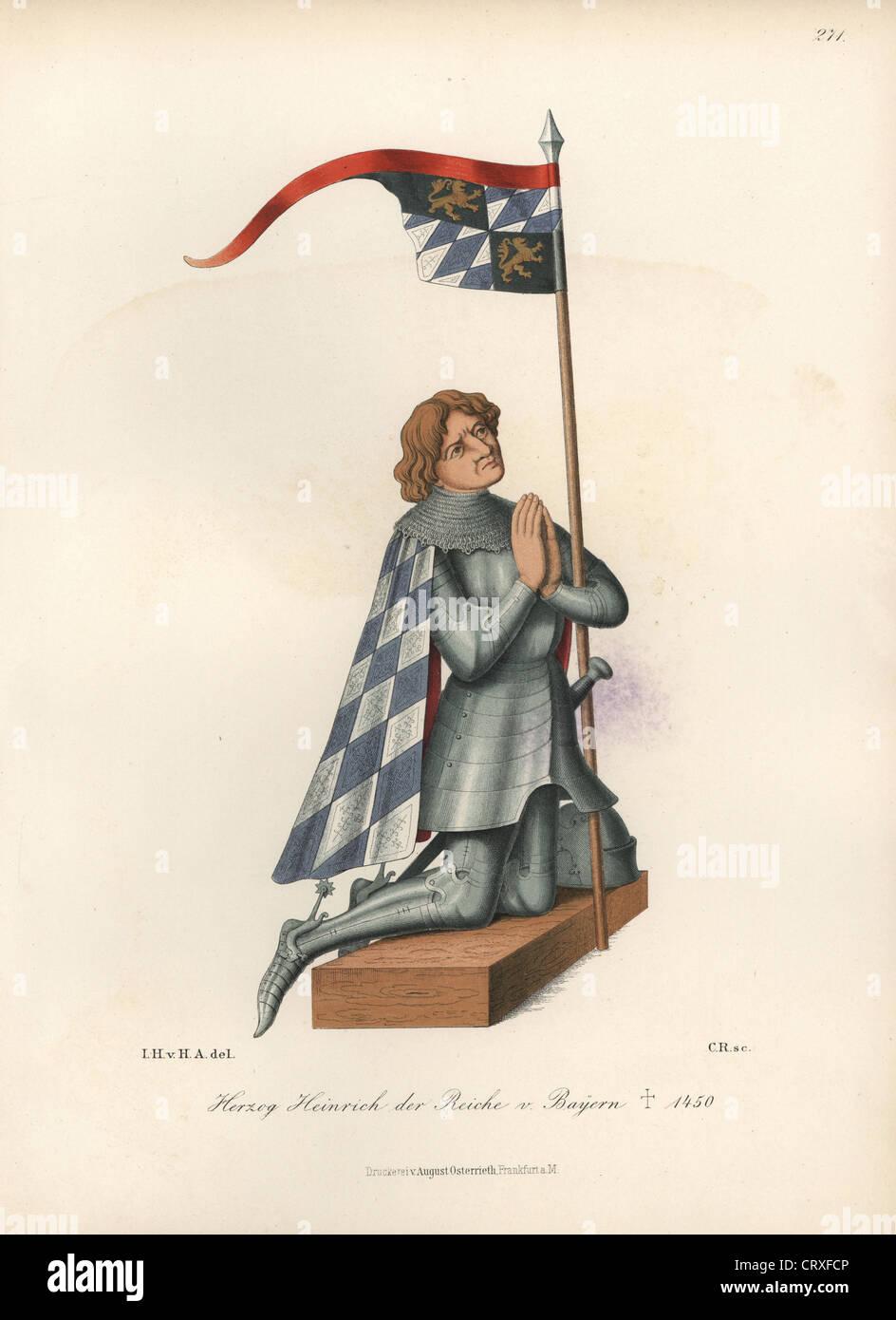 Henry XVI, Duke of Bavaria (1386-1450). - Stock Image