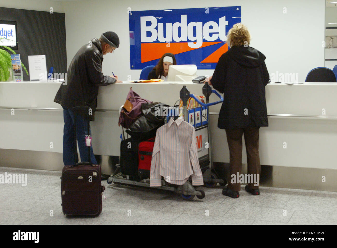 Counter Of Budget Car Rental