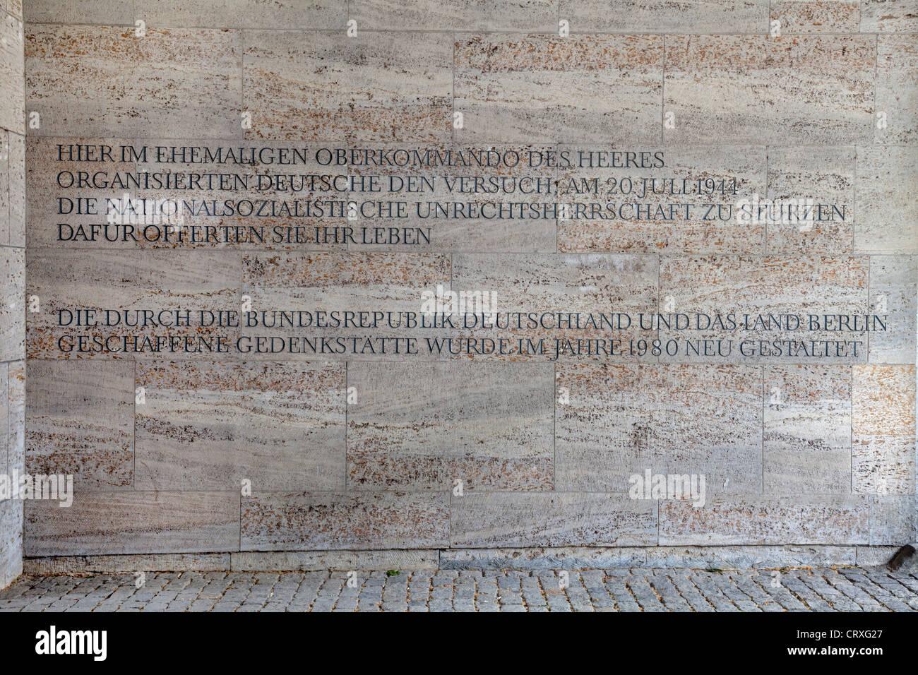 German Resistance Memorial Centre, Berlin, Germany Stock Photo