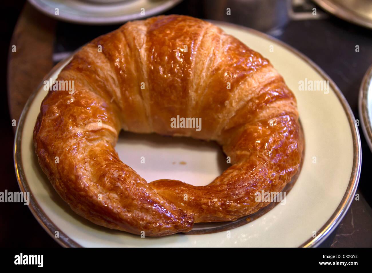 Croissant at Ladurée, Rue Royale, Paris, France - Stock Image