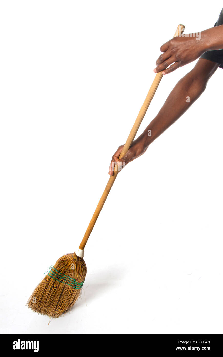 how to clean a straw broom