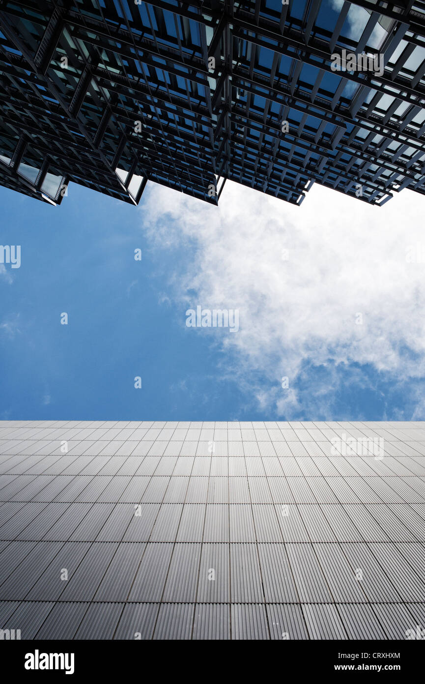 Office block glass reflections. More London Riverside. England - Stock Image