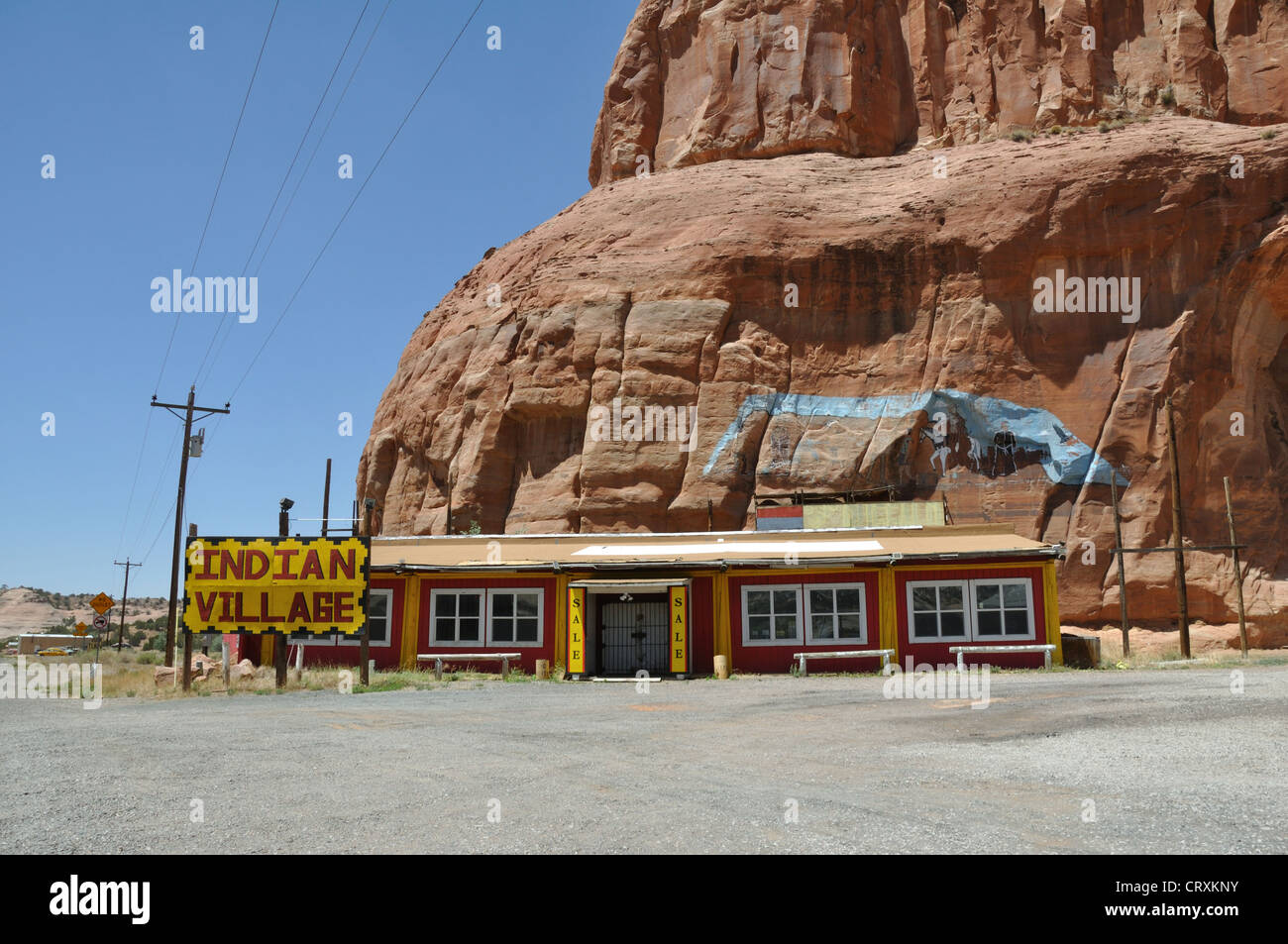 Old Route 66 >> Indian Village Trading Post Along Old Route 66 On Arizona And New
